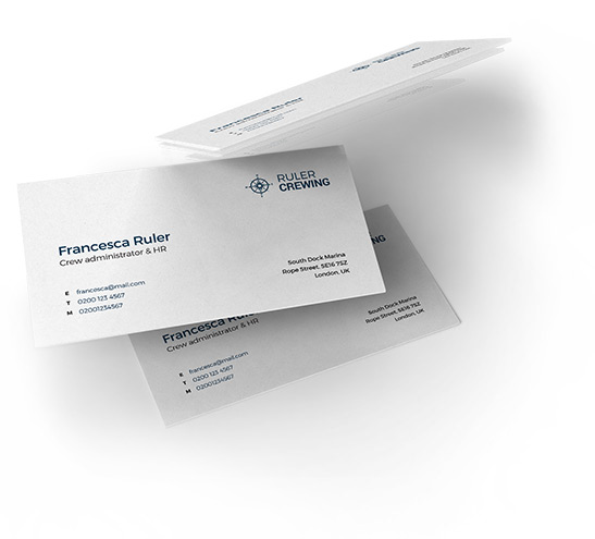 Creative branded business cards