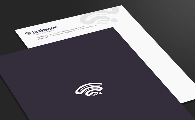Brainwave example letterhead and brochure