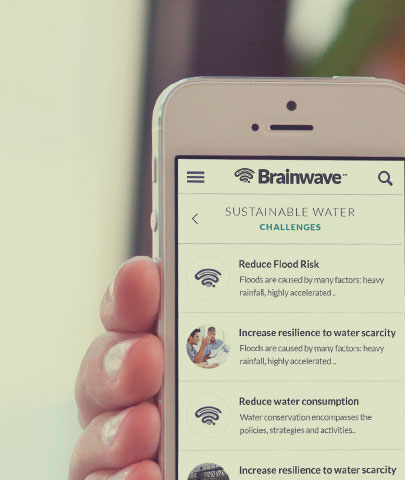 Brainwave website on mobile responsive design 3