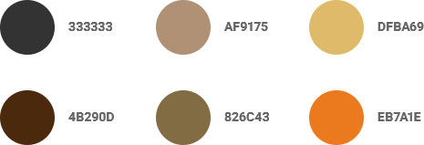 Coffeegram website example color palette 3