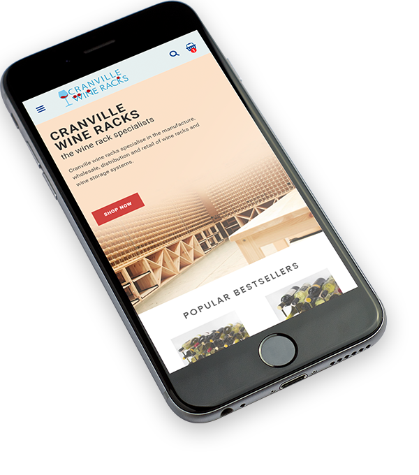 Cranville wines mobile example 5