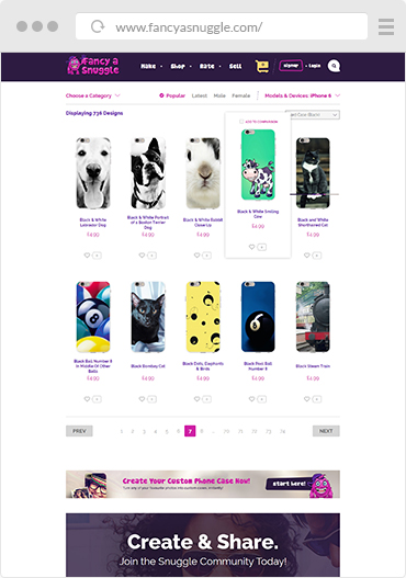 Fancy a snuggle website create custom phone cases example 2