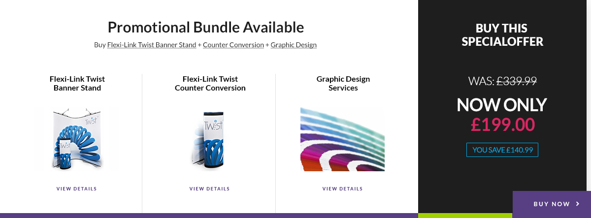 Product bundle display on products image
