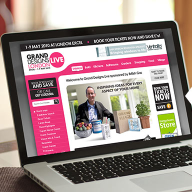 Grand Designs Live website example image laptop