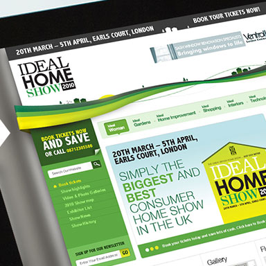 Ideal Home Show website example image