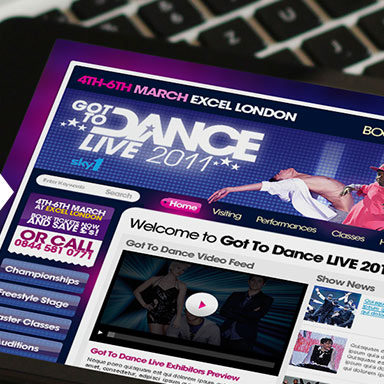 Got to dance LIVE 2011 website example