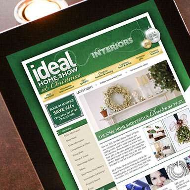 Ideal Home Show christmas page