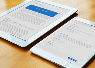 Pitney Bowes device responsive website