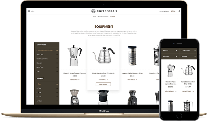 Responsive Ecommerce on different devices 5