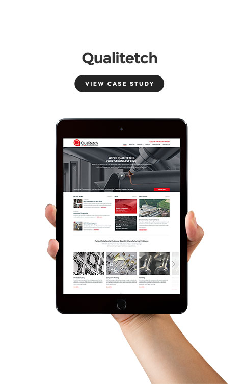 Case study screenshot Qualitetch Wordpress website